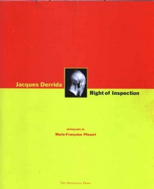 Jacques Derrida - Right of Inspection
