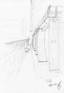 병산서원 기둥